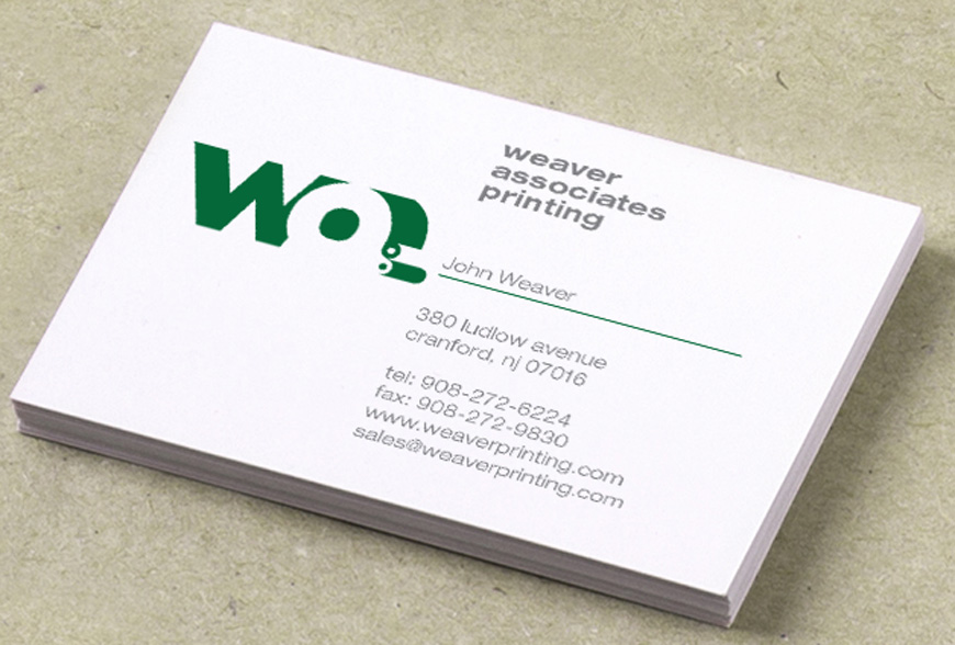 Weaver Associates Business Card